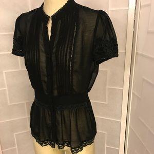 Twenty one black lace blouse